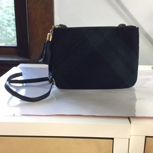 Talbots plaid wool crossbody purse